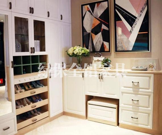 All aluminum shoe cabinet