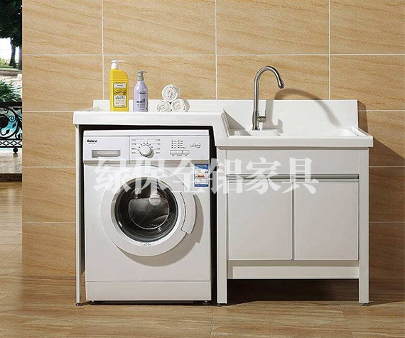 All aluminum laundry cabinet