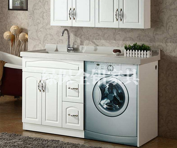 All aluminum laundry cabinet